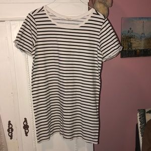 UO silence + noise striped T-shirt dress